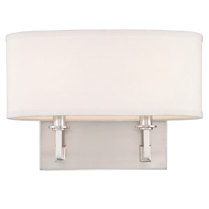 Grayson Satin Nickel Two-Light Sconce