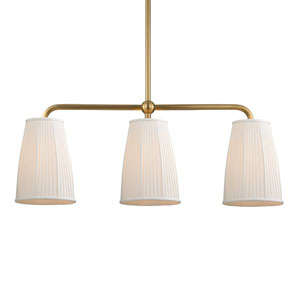 Malden Aged Brass Three-Light Island Pendant
