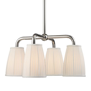 Malden Polished Nickel Four-Light Chandelier