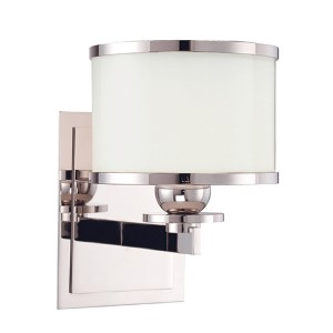 Basking Ridge Polished Nickel One-Light Bath Light