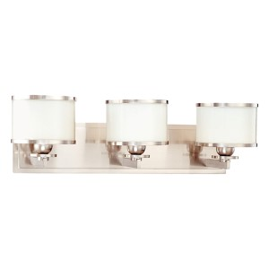 Basking Ridge Satin Nickel Three-Light Bath Light