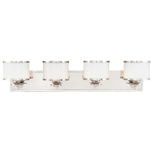 Basking Ridge Polished Nickel Four-Light Bath Light