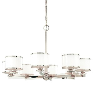 Basking Ridge Polished Nickel Eight-Light Chandelier