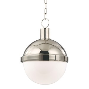 Lambert Polished Nickel 12.5-Inch Pendant