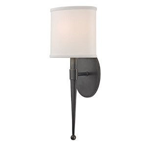 Madison Old Bronze One-Light Wall Sconce with White Shade