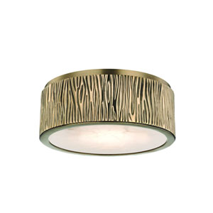 Crispin Aged Brass Nine-Inch LED Flush Mount
