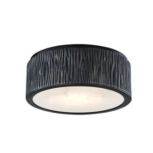 Crispin Old Bronze Nine-Inch LED Flush Mount