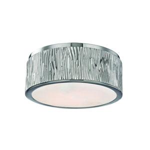 Crispin Polished Nickel Nine-Inch LED Flush Mount