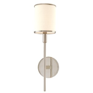 Aberdeen Polished Nickel One-Light Wall Sconce