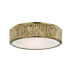 Crispin Aged Brass LED Flush Mount