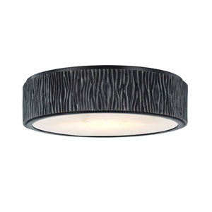 Crispin Old Bronze 13-Inch LED Flush Mount