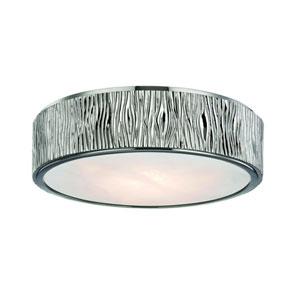 Crispin Polished Nickel 13-Inch LED Flush Mount