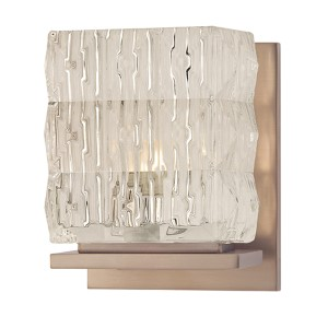 Torrington Brushed Bronze One-Light Bath Light Fixture with Clear Glass