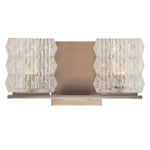 Torrington Brushed Bronze Two-Light Bath Light Fixture with Clear Glass