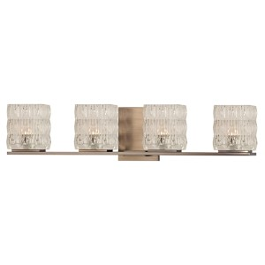 Torrington Brushed Bronze Four-Light Bath Bracket