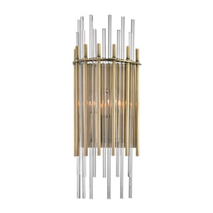 Wallis Aged Brass Two-Light Wall Sconce