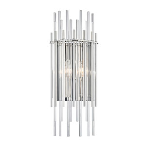 Wallis Polished Nickel Two-Light Wall Sconce