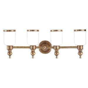 Chatham Aged Brass Four-Light Bath Fixture
