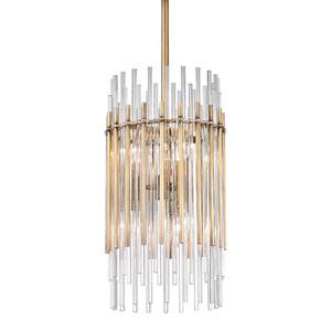 Wallis Aged Brass Six-Light Pendant