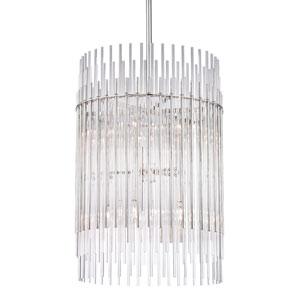 Wallis Polished Nickel Ten-Light Pendant