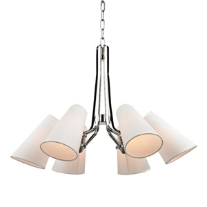 Patten Polished Nickel Six-Light Chandelier