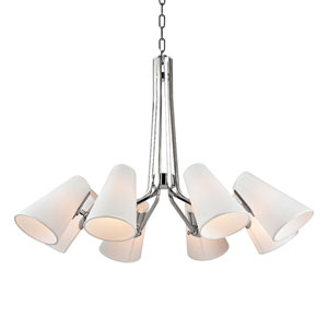 Patten Polished Nickel Eight-Light Chandelier