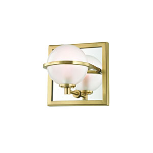 Axiom Aged Brass LED Bath Sconce
