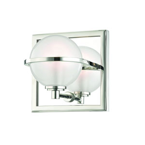 Axiom Polished Nickel LED Bath Sconce
