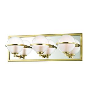 Axiom Aged Brass LED Bath Sconce