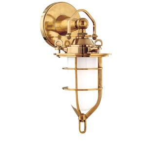 New Canaan Aged Brass One-Light Sconce