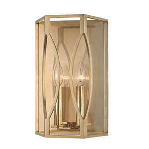 Roswell Aged Brass Two-Light Wall Sconce