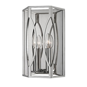 Roswell Polished Nickel Two-Light Wall Sconce