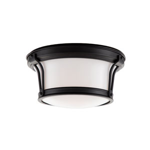 Newport Flush Old Bronze Two-Light Flush Mount