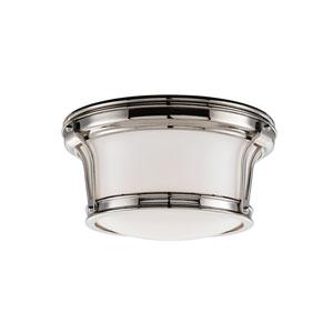 Newport Flush Polished Nickel Ceiling Light