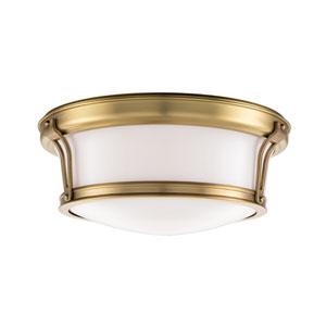 Newport Aged Brass Flush Mount Ceiling Light