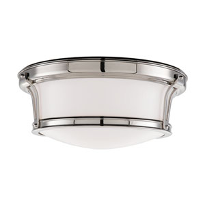 Newport Polished Nickel Flush-Mount Ceiling Light