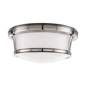 Newport Satin Nickel Flush Mount Ceiling Light