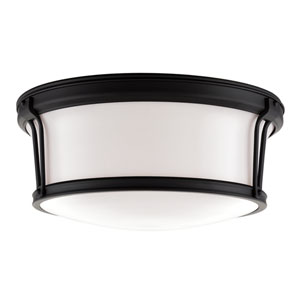 Newport Old Bronze Large Flush Mount Ceiling Light