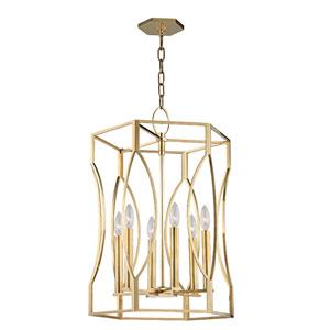 Roswell Aged Brass Six-Light Pendant