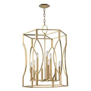 Roswell Aged Brass Nine-Light Pendant