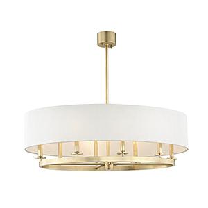 Durham Aged Brass 8-Light 39-Inch Pendant