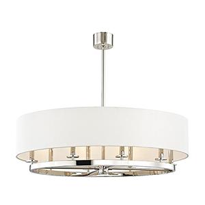 Durham Polished Nickel 8-Light 39-Inch Pendant