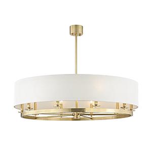 Durham Aged Brass 10-Light 42-Inch Pendant