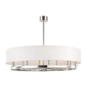 Durham Polished Nickel 10-Light 42-Inch Pendant