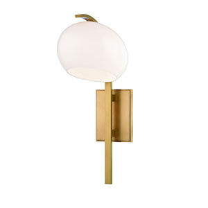 Perrault Aged Brass One-Light Wall Sconce