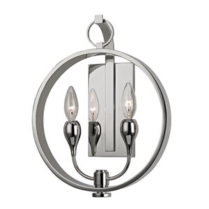 Dresden Polished Nickel Two-Light Wall Sconce
