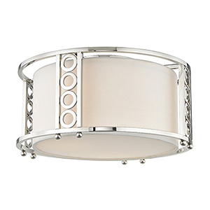 Infinity Polished Nickel 3-Light 16-Inch Flush Mount