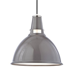 Lydney Polished Nickel One-Light Pendant with Opal Glass