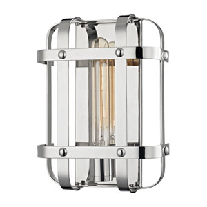Colchester Polished Nickel One-Light Wall Sconce