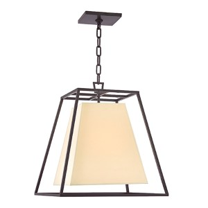 Kyle Old Bronze Four-Light Pendant with Cream Shade